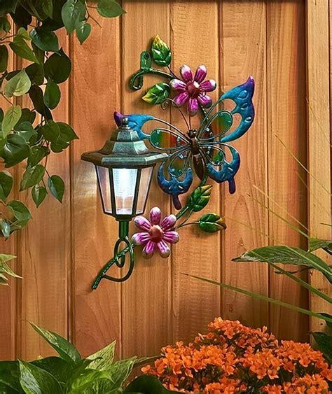 solar decorations outdoor butterfly solar wall lantern light yard lawn porch patio