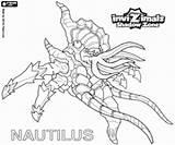 Nautilus Invizimals Shadow Zone Coloring sketch template