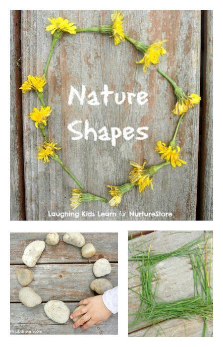 nature shapes outdoor math activities preschool science