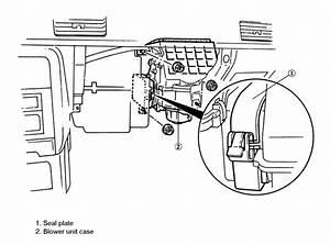 Service Manual  1995 Mazda Mpv Heater Blower Replace