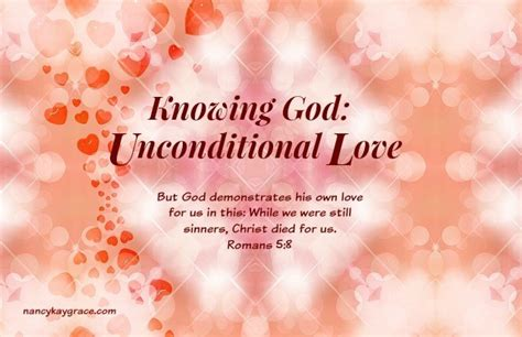 knowing god unconditional love