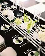 Table Decorations Black And White Theme Elegant Black And White Thanksgiving Decor Ideas