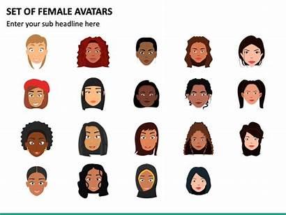 Female Avatars Ppt Template Sketchbubble Powerpoint Slides
