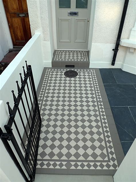 great victorian edwardian mosaic tile path ideas