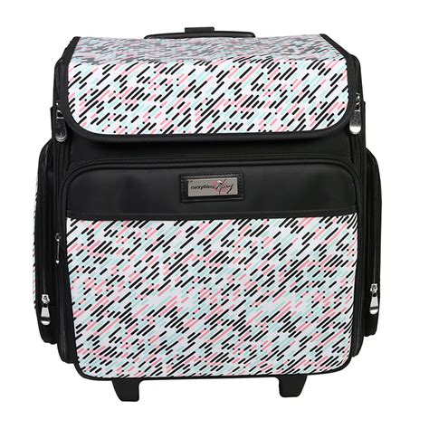 mary collapsible rolling craft bag pill