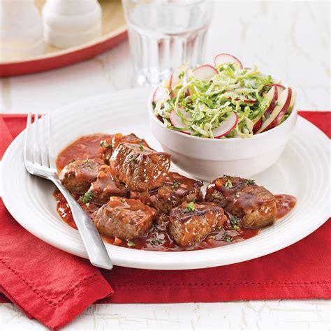 cuisine recettes pratiques cubes de boeuf barbecue recettes cuisine et nutrition