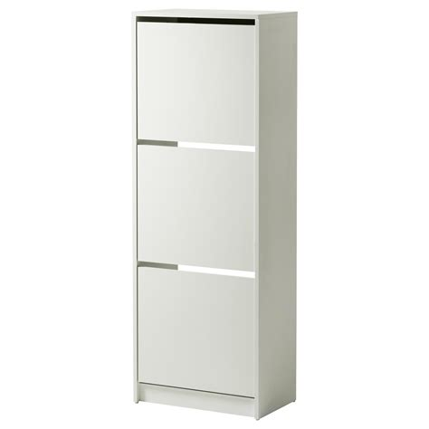 bissa shoe cabinet bissa shoe cabinet with 3 compartments white 49x135 cm ikea