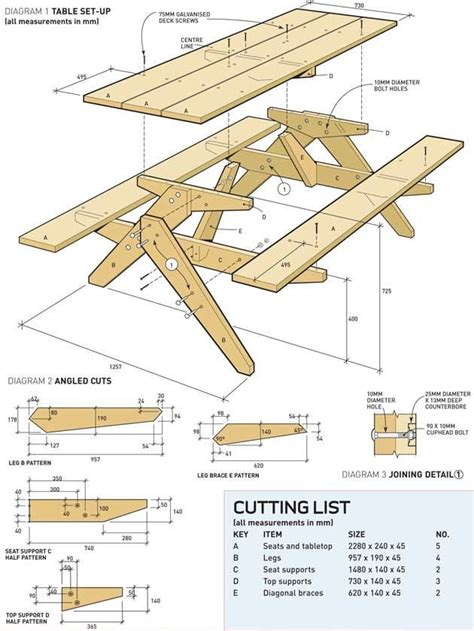 free picnic table plans free printable woodworking plans picnic table build