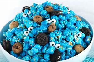 Cookie Monster Popcorn - Two Sisters