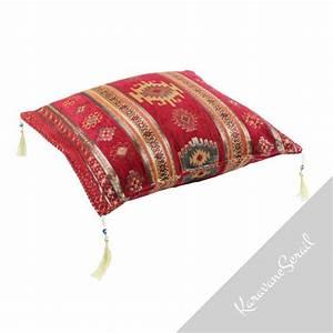 coussin marocain rouge bythinia With tapis de gym avec housse grand coussin canapé