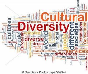 Cultural diversity wordcloud concept illustration ...
