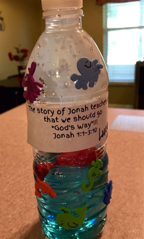jonah   whale ocean bottles preschool bible