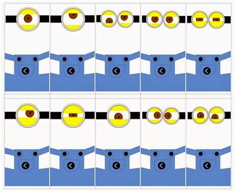minion template minions googles free printables oh my in
