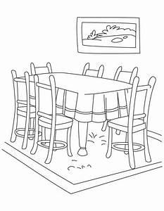 13 dessins de coloriage salle a manger à imprimer sur ...