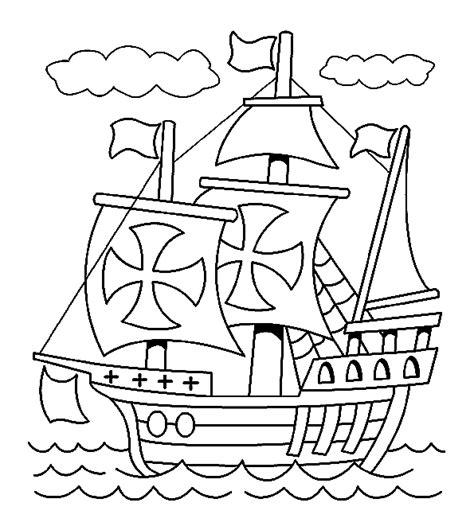 Schip Kleurplaat by Boot Kleurplaten Piratenschip