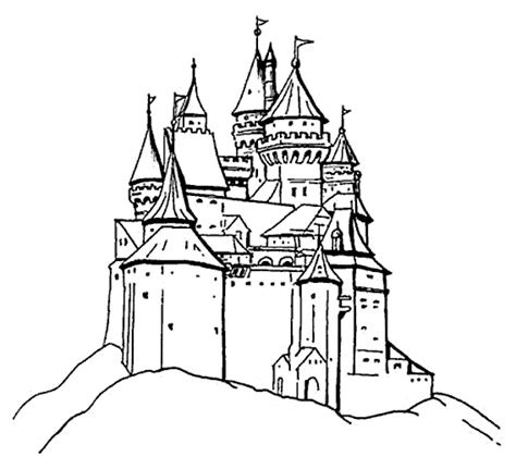 coloring castle free printable castle coloring pages for