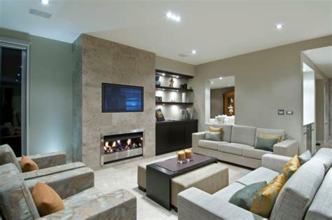 stunning contemporary family room designs