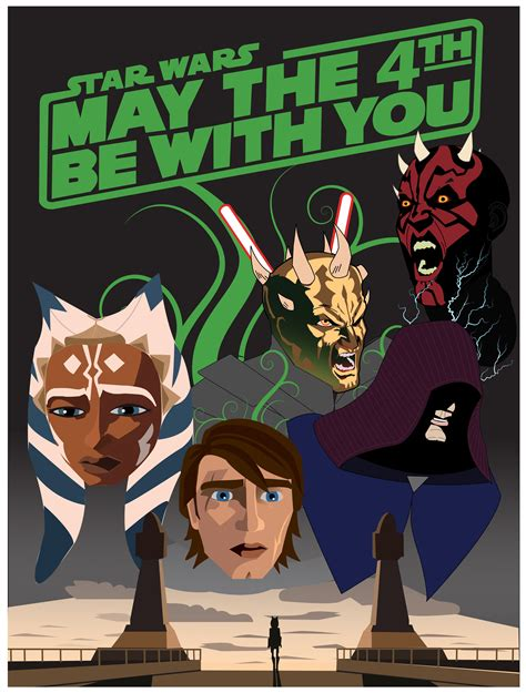 Star Wars Day Poster. May The 4th Be With You.   Comic ...