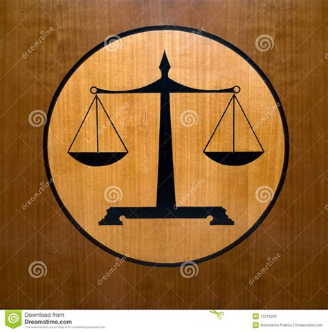 scales  justice symbol stock photo image