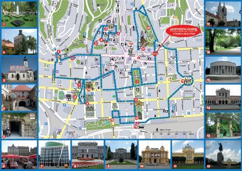 zagreb tourist attractions map attractions