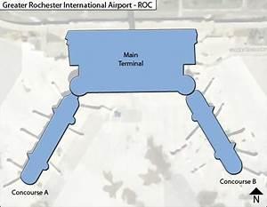 ROC - Rochester - Airport Terminal Maps