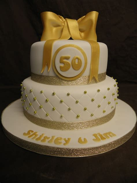 golden wedding anniversary cake  golden weding cakes
