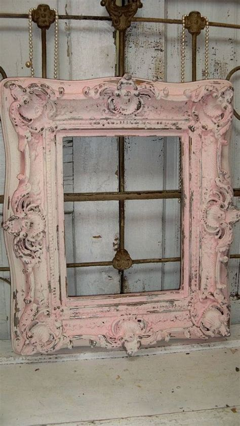 large shabby chic picture frames large pink cream frame shabby chic ornate wood distressed gold accents wall decor anita spero