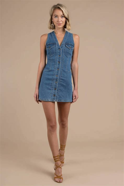 Dress Dona Denim blue free dress denim dress blue sleeveless