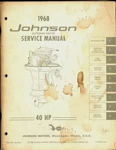 1968 Johnson Outboard Motor 40 Hp Service Manual
