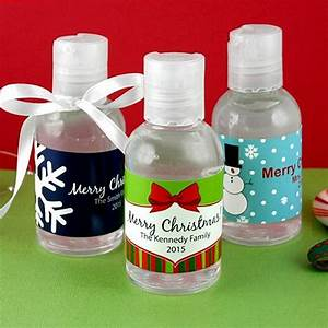 personailzed winter holiday hand lotion bottle favors With custom hand sanitizers