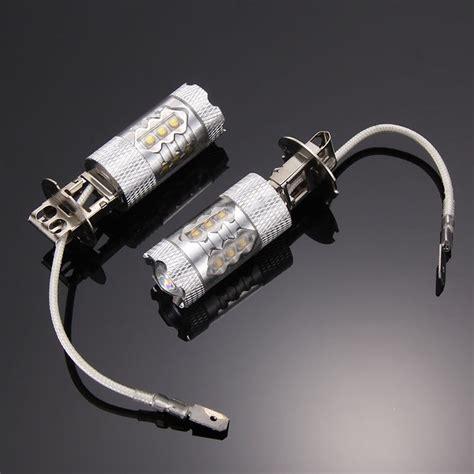h3 led fog light bulbs 2pcs h3 100w cree super bright white led fog tail drl car