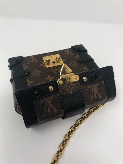 louis vuitton monogram essential trunk black  stdibs