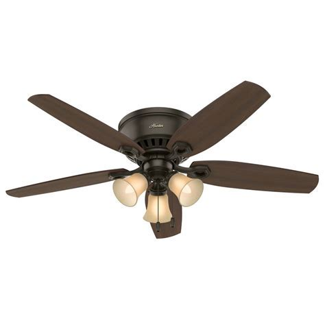 Hunter 53327 Builder Low Profile 52 Inch 3 Light Ceiling