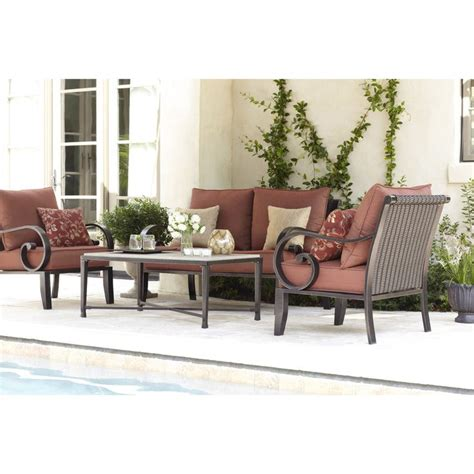 shop allen roth 2 piece pardini patio loveseat and