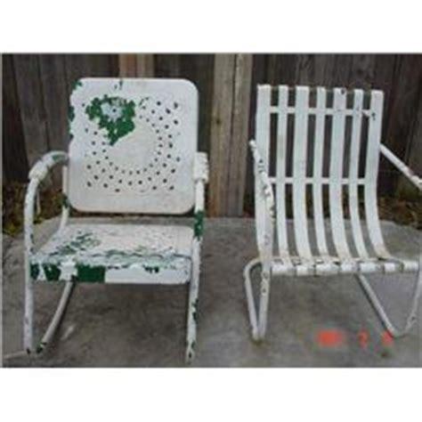vintage metal patio rocker chair
