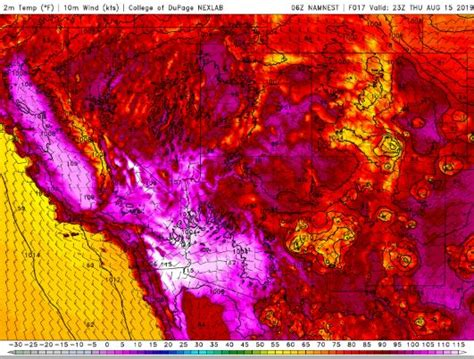 weather mexico central remain dewpoints nam nested shows