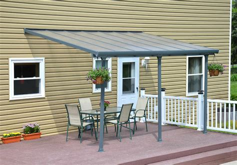 palram feria patio cover palram feria 10x14 patio cover gray free shipping