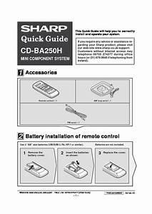 Sharp Cd  Operation Manual