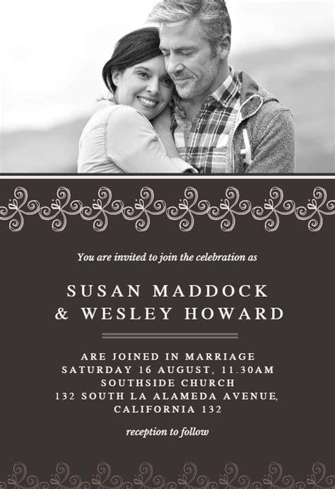wedding couple pic wedding invitation template