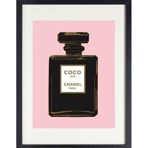 black chanel noir perfume  pink print