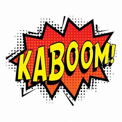 Kaboom Comic Sticker Stickers Clipart Horsesmouth Superhero