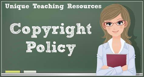 Copyright Policy Of Uniqueteachingresourcescom