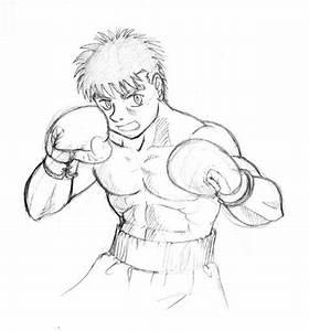 Dibujo De Chico Boxeador Para Pintar Y Colorear COLOREAR DIBUJOS VARIOS Dibujo De Chico