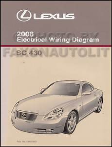 2008 Lexus Sc 430 Wiring Diagram Manual Original