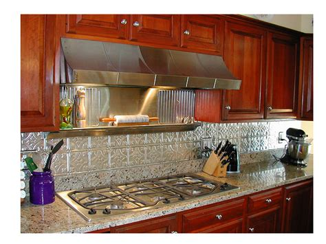 faux tin kitchen backsplash kitchen backsplash ideas decorative tin tiles metal backsplash
