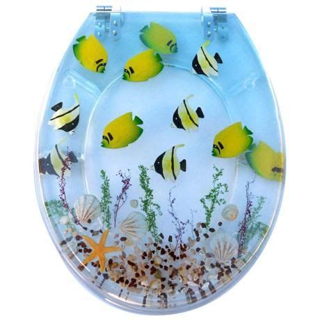tropical fish clear resin toilet seat  tropical