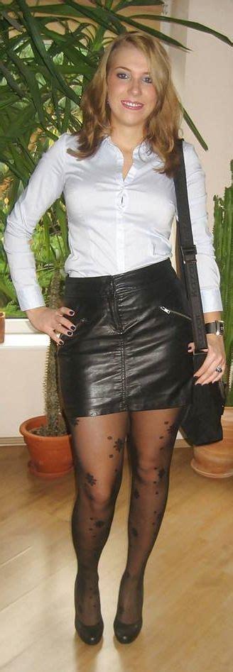 pin  john playboy  mtf leather skirt leather black