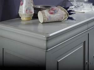 Meuble Repeint En Gris Perle : buffet 2 portes 3 tiroirs martine en merisier massif de ~ Dailycaller-alerts.com Idées de Décoration