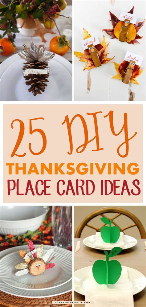 awesome diy thanksgiving place card ideas