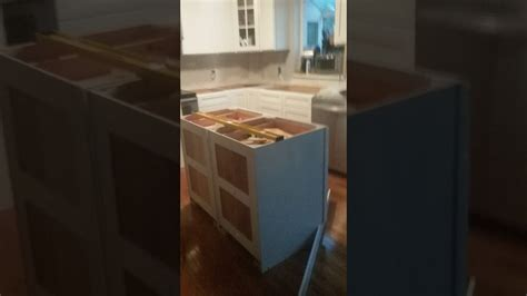 how to install a kitchen island using two 24 quot base